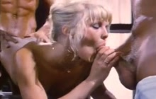 Vintage threesome with Danielle Martin