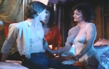 Kay Parker and friend share a pizza boy