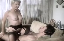 Vintage slut MILF uses a guy